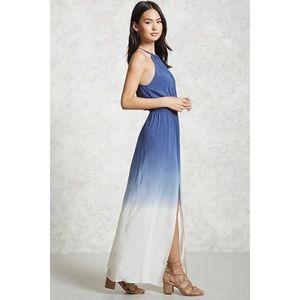 Forever 21 Dresses Blue And White Ombr Summer Maxi Dress Poshmark